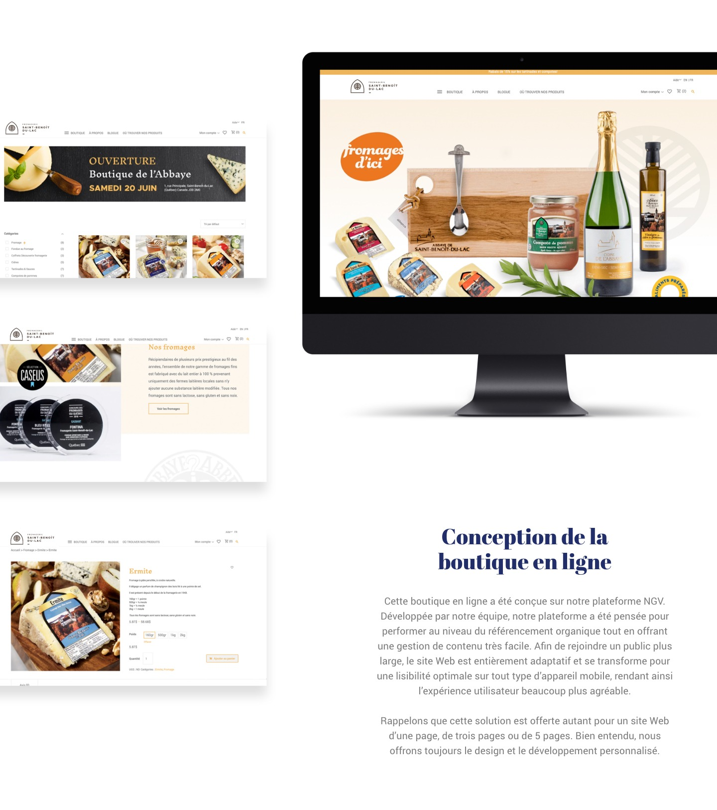 Conception de la boutique en ligne